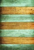 Painted Wood Textured Planks Background With Delicate Vignetting poster