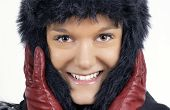 Young Woman In Black Furry Winter Hat poster