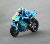 Alvaro Bautista from Rizla Suzuki MotoGP Team