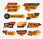 Exclusive Sale Supermarket Price Promo Tag Super Mega Big Sales Campaign Special Offer Discount Colo poster