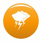 Cloud Thunder Flash Icon. Simple Illustration Of Cloud Thunder Flash Vector Icon For Any Design Oran poster