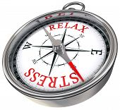 Relax Vs Stress Concept Compass
