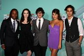 LOS ANGELES - OCT 26: Leon Thomas III, Elizabeth Gillies, Max Bennett, Daniella Monet, Avan Jogia arriving at the HALO Awards at Hollywood Palladium on October 26, 2011 in Los Angeles, CA