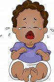 Illustration of a Baby Crying