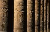 image of ptolemaic  - Ancient Egyptian hieroglyphs on columns in the Temple of Philae near Aswan - JPG