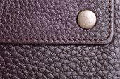 Brown Leather Rivet Wallet Macro Texture Fashion poster