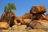 Devils marbles Northern territory Australia, giant granite boulders formed by erosion