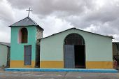 Small And Simple Local Catholic Church In Puno, Peru poster