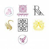 Luxury Logo Set. A Collection Of Logos For Interior. Decoration Logo. Interior Icon. Boutique Logo.  poster