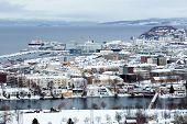 Snowy Trondheim poster
