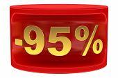 Sale sticker -95%