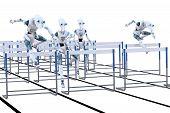 Robots Jumping Hurdles