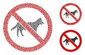 No Dog Bitch Icon Mosaic Of Joggly Elements In Different Sizes And Color Hues, Based On No Dog Bitch poster