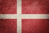 Grunge Denmark Flag. Denmark Flag With Grunge Texture. poster