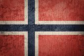 Grunge Norway Flag. Norway Flag With Grunge Texture. poster