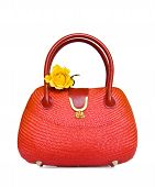 Vintage Red Straw Bag