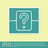 Green Mystery Box Or Random Loot Box For Games Icon Isolated On Yellow Background. Question Box. Vec poster