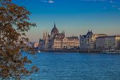 Beautiful Panoramic View Of Budapest With Parliament And The Danube Embankment In Hungary poster