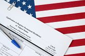 I-485 Application To Register Permanent Residence Or Adjust Status Blank Form Lies On United States  poster