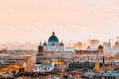 Panoramic View From The Roof Of St. Isaacs Cathedral. Saint Petersburg. Russia. poster