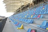 Seating arrangment in main grandstand of Bahrain International Circuit