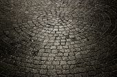 Dark Wet Cobblestone Background