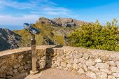 Telescope Viewpoint In Mountainous Northwest Coast Of The Island Of Mallorca. Spain poster