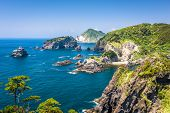 Natural coastal landscape of Izu Peninsula, Shizuoka, Japan. poster