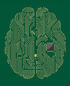 Motherboard Gehirn mit Computer-chip