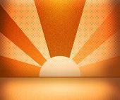 Orange Rays Room
