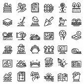 Landscape Designer Icons Set. Outline Set Of Landscape Designer Vector Icons For Web Design Isolated poster