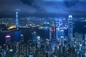 Hong Kong City Night