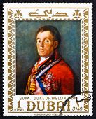 Postage stamp Dubai 1967 Duke of Wellington by Francisco Goya