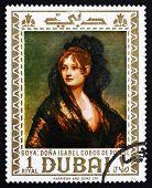 Postage stamp Dubai 1967 Dona Isabel Cobos de Porcel by Goya