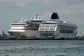 Cruise Ships In Nassau, The Bahamas