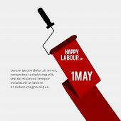 Happy Labor Day Vector Vector Happy Labor Day Background Or Banner With Man Hand. May Day Poster poster
