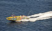 Speeding Tour Boat