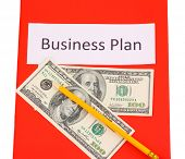 Red folder labeled business