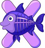 picture of x-ray fish  - Alphabet Y with X ray fish cartoon - JPG