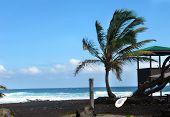 Lifeguard Shack On Punaluu Beach