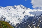 Snow Capped Mountains In The Southern Alps