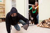 Burglars Flee From The Crime Scene
