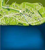 Cartoon map of Sochi, Russia