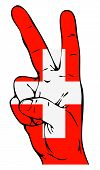 Peace Sign of the Swiss flag