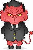 Evil Business Devil Cartoon Character