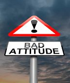 stock photo of indecent  - Illustration depicting a sign with a bad attitude concept - JPG