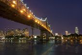 stock photo of overpopulation  - New York by night  - JPG