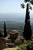 image of sparta  - Mystras is a fortified town situated on Mt. Taygetos near ancient Sparta it served as the capital of the Byzantine Despotate of the Morea in the 14th and 15th centuries.