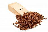 Die gaufriert Karton mit Kaffee Körner