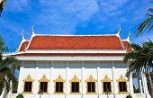 White Pavilion In Temple Of The Wat Rhai Pa, Trat, Thailand